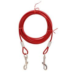Double-headed Traction Rope Blue/White/Red Dog Leash Steel Wire Woven Pet rope product for Dog Leash S M L