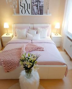 72 Cozy Home Decorating Ideas for Teen Girls Bedrooms – Home Dekor Girl Bedroom Designs, Master Bedroom Design, Girls Bedroom, Bedroom 2018, Home Decor Bedroom, Interior Design Living Room, Bedroom Ideas, Bedroom Furniture, Diy Bedroom