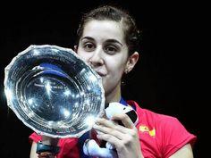 Carolina Marin All England Badminton, Marines, Superstar, Spain, England, Sports, Outfits, Female Sports, Feminine
