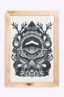 Urban Outfitters - Stag By Emily Hogarth Framed Print Framed Wall Art, Wall Decals, Framed Prints, Art Prints, Home Decor Sale, Art Decor, Decoration, Paper Art, Screen Printing
