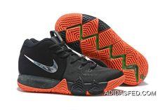 "a6c721a551b Big Deals Nike Kyrie 4 ""Halloween"" Black Metallic Silver-Orange"