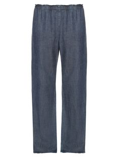 Wide-leg chambray-denim trousers | Raquel Allegra | MATCHESFASHION.COM US