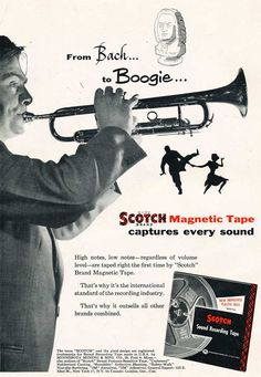 1954 ad for Scotch brand reel recording tape in Reel2ReelTexas.com's vintage recording collection