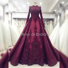 the dress # nişanlık # tesettürgelinlik There are different rumors about the real history of the marriage … Muslimah Wedding Dress, Hijab Wedding Dresses, Bridal Dresses, Prom Dresses, Special Dresses, Nice Dresses, Indian Wedding Gowns, Modele Hijab, Gowns Of Elegance