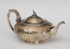 Sterling Silver Continental Tea Pot