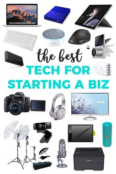What technology do I need to start a business? What do I need to start a business? Here's a list of the very best essential technology you need to start your small business. Including suggestions for the entrepreneur on the go and your home office set up. Business Tips, Online Business, Creative Business, Office Set, Starting A Business, Boro, Personal Development, How To Start A Blog, Entrepreneur