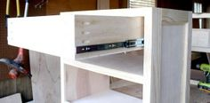 How to build a nightstand bedside table - free furniture plans and tutorial