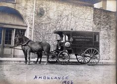 Horse-Drawn Philadelphia General Hospital Ambulance with Attendant. Circa 1906. Photo The University of Pennsylvania Archives.