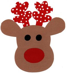Reindeer fabric iron on applique DIY