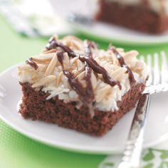 Best Coconut Chocolate Cake Recipe -I hope other families enjoy this chocolate coconut cake as much as my family does. I've given almost 100 copies of this recipe to others who have tried the cake and liked it. Coconut Chocolate, Chocolate Cake, Chocolate Pudding, Just Desserts, Delicious Desserts, Yummy Treats, Sweet Treats, Cake Recipes, Dessert Recipes