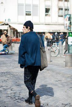 meninthistown:Plaid trouser.