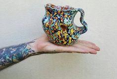 Acid wash mug by JessPinchedMe on Etsy