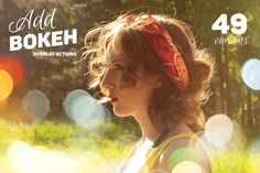 Add Bokeh Overlay Photoshop Actions by Creative Stuff on Creative Market
