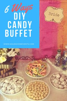 Most mistakes in weddings or any kinds of event is having your guests hungry before reception food can be served.One way to make your wedding guests stuffed is have a food bar.You can have candy buffet or any sweets served while waiting for the reception to start.You can personalized it by doing a DIY decoration and ask your event planner to do your peg for you or your event stylist.Although Kolekzion events provide a food bar for free for CaLaBarZon and Manila couples.#candybuffet…
