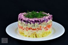 Salata ruseasca Șuba - CAIETUL CU RETETE Health Fitness, Pudding, Cooking, Desserts, Food, Salad, Kitchen, Tailgate Desserts, Deserts
