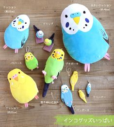 Fluffy budgerigar bird plush is the perfect size to hug! Sekiguchi, a Japanese co...