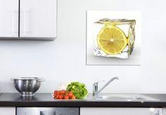 Glaçon au Citron - Tableaux sur toile
