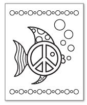 Zebra Peace Sign Coloring Pages 1000+ images ab...