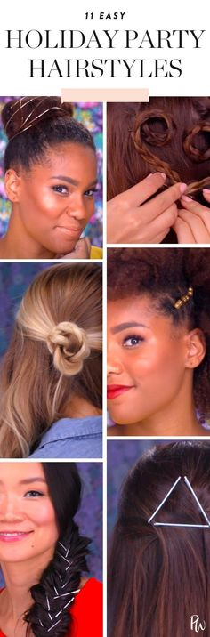 11 Easy Hairstyles for All Your Holiday Parties #purewow #updo #beauty #trick #hair #holiday #tip