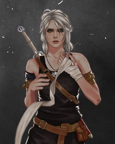 Witcher 3 Art, Ciri Witcher, Geralt Of Rivia, The Witcher Wild Hunt, The Witcher Game, Top Anime Characters, Female Characters, Fantasy Art Women, Fantasy Girl