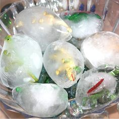 Easy to make frozen dinosaur eggs for ice melt science and sensory play. Frozen dinosaur eggs are simple to set up and provide hours of play and learning!