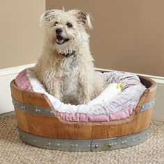 I loved this Personalized Wine... Now available in our store. Check it out here! http://www.letswinealittle.com/products/personalized-wine-barrel-pet-bed-small