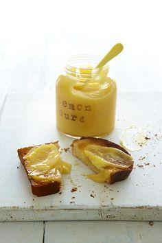 Lemon curd on toast makes for a lovely Summery breakfast