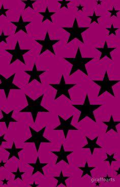 Pink and Black Stars by giraffoarts Iphone 6 Wallpaper, Star Wallpaper, Glitter Wallpaper, Cellphone Wallpaper, Wallpaper Backgrounds, Phone Backgrounds, Phone Wallpapers, Candy Background, Star Background