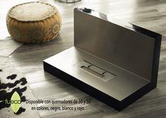 Referencia para piso o pared con quemadores de 30 o 50 cms En color negro, blanco o rojo