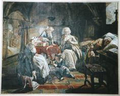 In August 1792, Louis XVI, Marie-Antoinette, their children, and Louis' sister Madame Elisabeth were incarcerated in the Temple Prison. Read more: http://teaattrianon.blogspot.com/2009/03/life-in-temple-prison.html