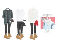 """Jungkook Style Looks"" by somuchbetterme ❤ liked on Polyvore featuring Frame Denim, Timberland, Vans, Acne Studios, Heist, Chloé and Moncler"