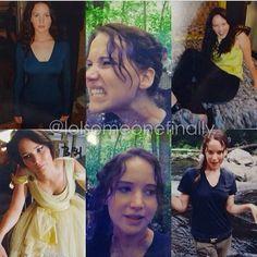 Jennifer Lawrence as Katniss Everdeen :) Hunger Games Cast, Hunger Games Movies, Hunger Games Humor, Hunger Games Catching Fire, Hunger Games Trilogy, Katniss And Peeta, Katniss Everdeen, Hush Hush, Percy Jackson