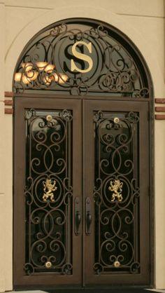 Leo | Manhattan Iron Door Co. #irondoor #custom #homedesign #wroughtiron