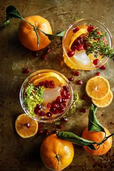 My FAVORITE Recipes: Sparkling Clementine Thyme Cocktail - Heather Chri...