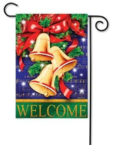 christmas bells decorative holiday garden flag add style to your home with eye catching - Decorative Christmas Flags