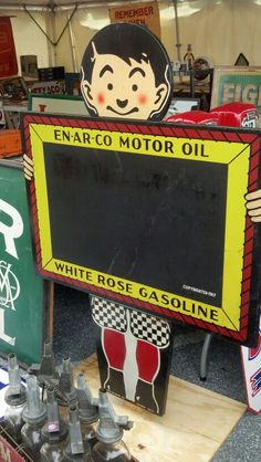 Beautiful Enarco Motor Oil Sign