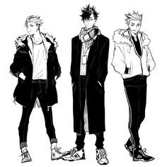 Terushima and Kuroo and Bokuto Fanarts Anime, Anime Manga, Anime Guys, Anime Characters, Anime Art, Haikyuu Fanart, Haikyuu Anime, Character Concept, Character Art