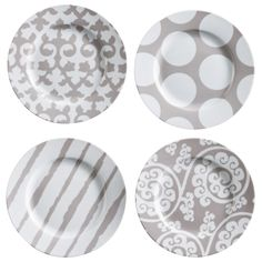 """""""Love these plates!!!"""" -Andrea H   Rosanna Rue Du Bac Appetizer Plate Set of 4 on @LaylaGrayce #laylagrayce @plates"""