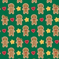 Cookie Cute  (Green) fabric by marcelinesmith on Spoonflower - custom fabric