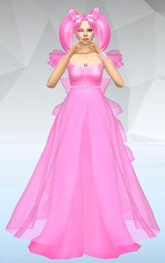 TS4 Princess Usagi Small Lady Serenity dress http://silvermoonsims3.blogspot.com.es/2016/01/sims-4-princess-usagi-small-lady.html