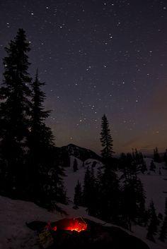 Camp fire under the stars by esslingerphoto.com✈