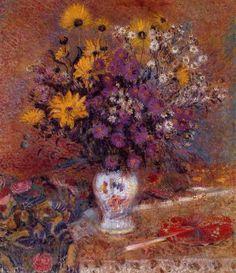 Vase of Flowers - : Canvas Art, Oil Painting Reproduction, Art Commission, Pop Art, Canvas Painting Art Floral, Flower Vases, Flower Art, Life Flower, Oil On Canvas, Canvas Art, Free Art Prints, Post Impressionism, Oil Painting Reproductions