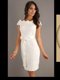 Robe de soiree courte en dentelle robes pinterest for Robes blanches simples pour le mariage de palais de justice