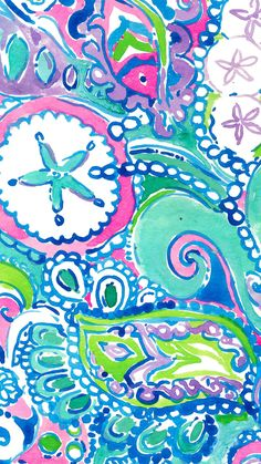 Let there be silence while this Lilly Pulitzer print does the talking : Conch Republic.