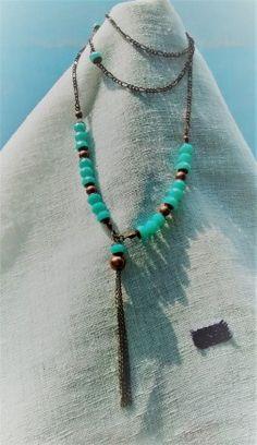 Collar Vera Turquoise Necklace, Casual, Jewelry, Fashion, Moda, Jewlery, Jewerly, Fashion Styles, Schmuck