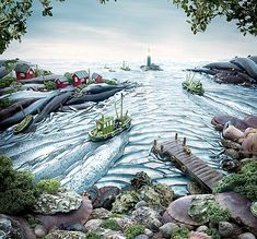 #Carl Warner, #fish, #foodscape