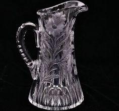 american brilliant cut glass pitcher - Google Search