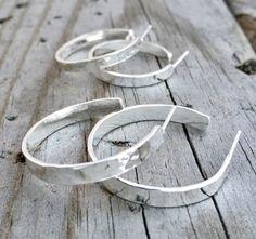 Sterling Silver Hammered Hoop Earrings Handmade Sterling Silver Earrings Handmade in the USA by Wild Prairie Silver Jewelry