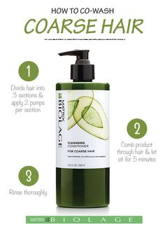 This low-lather, fast rinsing, soap-free (no poo shampoo) Cleansing Conditioner for coarse hair with Avocado provides thorough cleansing and targeted conditioning to restore smoothness and manageability for increased shine and suppleness. How to Co-Wash Coarse Hair: 1. Section hair into 3 large sections. Use 2-3 pumps per section. 2. Massage product through hair. Let sit for 5 minutes. 3. Rinse thoroughly. Finish with Smoothing Cream Lotion leave-in treatment. Available at Ulta.com.
