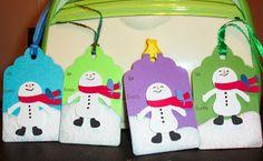 stampncricut: Christmas tags - Snow Friends